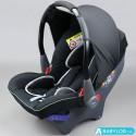 Car seat Klippan Dinofix freestyle (black with grey stitching)