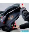 Car seat Klippan Dinofix (black with grey stitching) with Isofix base