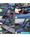 Silla de coche Klippan Dinofix negro y consturas grises con base Isofix