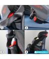 Klippan triofix recline sunset Black and red