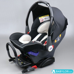 Car seat Klippan Dinofix beige and black with Isofix base