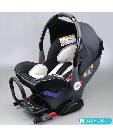 Car seat Klippan Dinofix beige and black with Isofix base