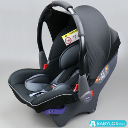 Klippan Dinofix black and grey (noir et gris)