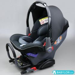 Kindersitz Klippan Dinofix schwarz und grau mit Isofix-Befestigung