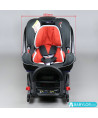 Car seat Klippan Dinofix (black and red) with Isofix base