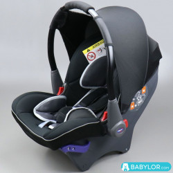 Klippan Dinofix black and l.grey (noir et gris clair)
