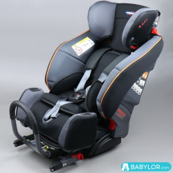 Klippan Triofix Maxi black orange (noir et orange) avec base Isofix