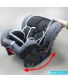 Siège auto Klippan Kiss 2 Plus sport (gris et noir) avec base Isofix et appui-tête