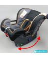 Siège auto Klippan Cosy Kiss 2 Plus (noir et orange) avec base Isofix et appui-tête