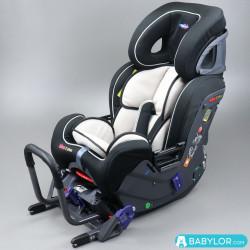 Kindersitz Klippan Kiss 2 Plus beige mit Isofix-Befestigung und Kopfstütze