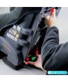 Siège auto Klippan Triofix Recline sport (gris et noir) avec base Isofix