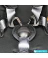 Silla de coche Klippan Triofix Recline negro y naranja con base Isofix