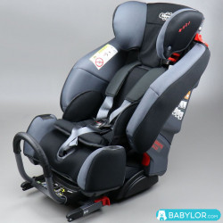 Kindersitz Klippan Triofix Maxi mit Isofix-Befestigung, grau schwarz