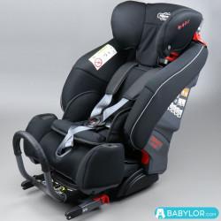 Kindersitz Klippan Triofix Maxi mit Isofix-Befestigung, schwarz & grau