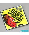 Signalétique bébé à bord ventouse Disney Cars