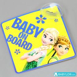 Signalétique bébé à bord ventouse Disney la Reine des Neiges
