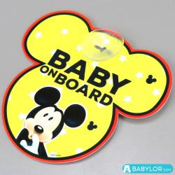 Signalétique bébé à bord ventouse Disney Mickey