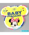 Signalétique bébé à bord ventouse Disney Minnie